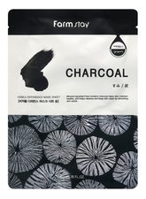 Farm Stay Тканевая маска с древсным углем Visible Difference Mask Sheet Charcoal 23мл