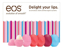 Eos Набор бальзамов Delight Your Lips 6шт