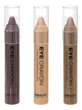 ABSOLUTE New York Набор карандашей для глаз Eye Crayon (Royal Plum + Champagne + Cafe Latte)