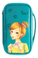 Fascy Косметичка Pungseon Tina PU Beauty Pouch Blue