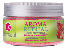 Dermacol Скраб для тела Aroma Ritual Juicy Body Scrub Rhubarb & Strawberry 200г (ревень и клубника)