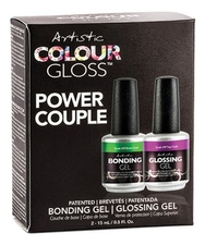 Artistic Набор Colour Gloss Power Couple (верхнее покрытие д/ногтей 15мл + базовое покрытие д/ногтей 15мл)