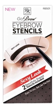 KISS New York Professional Набор трафаретов для бровей Go Brow Sexy Look Eyebrow Stencils RBS01