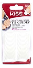 KISS New York Professional Трафарет для французского маникюра и педикюра French Manicure Tip Guides BK132 80шт