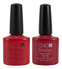 CND Набор лаков для ногтей Shellac Collection Holiday 2*7,3мл (Ruby Ritz + WildFire)