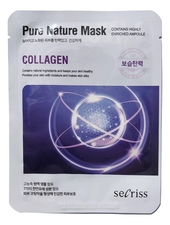 Anskin Тканевая маска для лица с коллагеном Secriss Pure Nature Mask Collagen 25мл