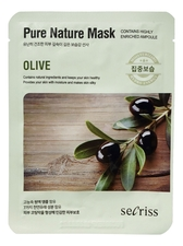 Anskin Тканевая маска для лица с экстрактом оливы Secriss Pure Nature Mask Olive 25мл