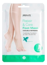 ABSOLUTE New York Маска-носочки для ног Repair & Care Foot Mask Cooling & Refreshing Peppermint
