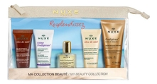 NUXE Набор для путешествий Ma Collection Beaute (гель д/лица 15мл + крем д/лица 15мл + масло 10мл + крем д/рук и ногтей 15мл + масло д/душа 30мл)