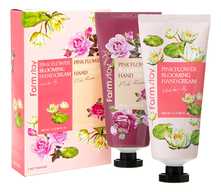 Farm Stay Набор Pink Flower Blooming Hand Cream (крем д/рук Water Lily 100мл + крем д/рук Pink Rose 100мл)