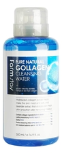 Farm Stay Очищающая вода для лица с коллагеном Pure Natural Cleansing Water Collagen 500мл