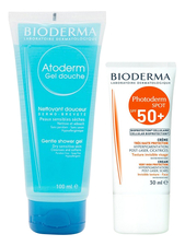 Bioderma Набор для тела (крем Photoderm Spot Cream SPF50+ 30мл + гель для душа Atoderm Gel Douche Gentle Shower 100мл)