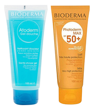 Bioderma Набор для тела (молочко Photoderm Max Milk SPF50+ 100мл + гель для душа Atoderm Gel Douche Gentle Shower 100мл)