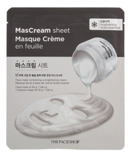 The Face Shop Тканевая маска для лица Intense Brightening MasСream Sheet 30г