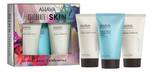 AHAVA Набор Body Trio Mineral (лосьон д/тела Body Lotion 40мл +  гель д/душа Shower Gel 40мл + крем д/рук Hand Cream Sea Kissed 40мл)