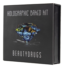 Beautydrugs Палетка теней-хайлайтеров Holographic Baked Kit by Elya Bulochka