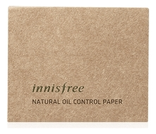 Innisfree Матирующие салфетки для лица Natural Oil Control Paper 50шт