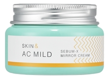 Holika Holika Увлажняющий крем-гель Skin & AC Mild Sebum X Mirror Cream 60мл