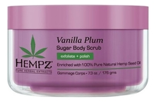 Hempz Скраб для тела Vanilla Plum Sugar Body Scrub 176г (ваниль и слива)