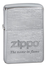 Zippo Зажигалка бензиновая Name In Flame (серебристая, матовая)