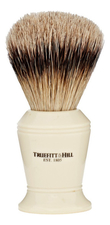 Truefitt & Hill Помазок Faux Ivory Super Badger Shave Brush Carlton (ворс серебристого барсука, слоновая кость с серебром, 10см)