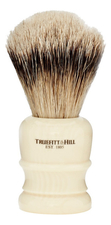 Truefitt & Hill Помазок Faux Ivory Super Badger Shave Brush Wellington (ворс серебристого барсука, слоновая кость с серебром)
