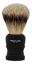 Truefitt & Hill Помазок Faux Ebony Super Badger Shave Brush Wellington (ворс серебристого барсука, эбонит с серебром)