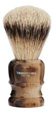 Truefitt & Hill Помазок Faux Horn Super Badger Shave Brush Wellington (ворс серебристого барсука, рог с серебром)