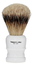 Truefitt & Hill Помазок Faux Porcelain Super Badger Shave Brush Wellington (ворс серебристого барсука, фарфор с серебром)