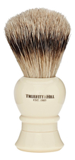 Truefitt & Hill Помазок Faux Ivory Super Badger Shave Brush Regency (ворс серебристого барсука, слоновая кость с серебром)