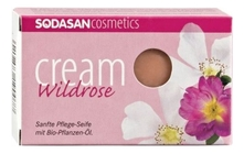Sodasan Мыло Cream Wildrose 100г