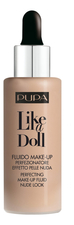 PUPA Milano Тональный крем Like A Doll Make-Up Fluid Nude Look 30мл