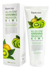 Farm Stay Пилинг-гель для лица с экстрактом киви и муцина улитки Snail All-In-One Whitening Peeling Gel Kiwi 180мл