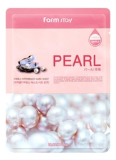 Farm Stay Тканевая маска для лица с экстрактом жемчуга Visible Difference Mask Sheet Pearl 23мл