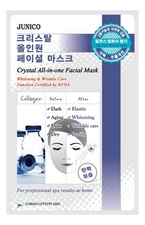 Mijin Маска тканевая c коллагеном Junico Crystal All-In-One Facial Mask Collagen 25г