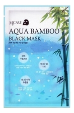 Mijin Маска для лица Черный бамбук MJ Care Aqua Bamboo Black Mask 25г