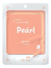 Mijin Маска тканевая для лица с экстрактом жемчуга MJ Care On Pearl Mask Pack 22г