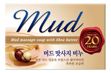 Mukunghwa Мыло с эффектом массажа Mud Massage Soap With Shea Butter 100г