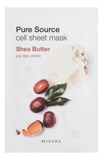 Missha Маска для лица листовая с маслом ши Pure Source Cell Sheet Mask Shea Butter 21г