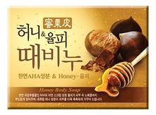 Mukunghwa Мыло-скраб мед и каштан Honey & Chestnut Scrub Soap 100г